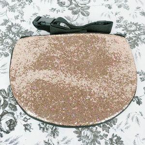 Handbags - Rosegold glitter fanny pack waist purse